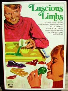 Eat a lively bunch of limbs.  #creepy #vintage #ad