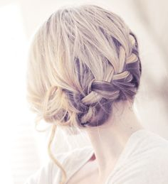 side french braid low updo - Google Search