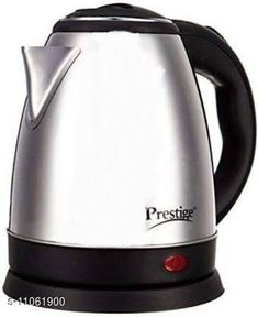 Checkout this latest Kettles & Hot Water Dispensers Product Name: *Prestige PKOSS 1.5 Electric Kettle  (1.5 L, Silver) * Type: Electric Kettle Product Height: 15  Product Length: 20  Country of Origin: China Easy Returns Available In Case Of Any Issue   Catalog Rating: ★4 (453)  Catalog Name: Trendy Electric Kettle CatalogID_2054310 C104-SC1486 Code: 5001-11061900-0942