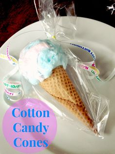 Cotton Candy Cones (Birthday Party Favors)
