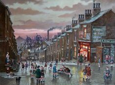 """For all the fans of Stephen Scholes wonderful paintings (including me and Dr S) here is one just for you and us! Local Artists, Famous Artists, British Artists, Irish Painters, British Travel, Old Art, Minimalist Art, Urban Landscape, Winter Scenes"