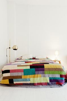 DIY Inspiration - knittted quilt