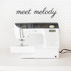 meet Melody! Baby Lock Melody Sewing Machine Review - see kate sew. ooohhh looks so wonderful!