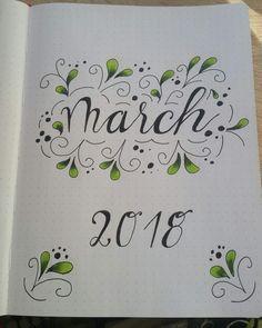 Ma4ch Planner Bullet Journal, March Bullet Journal, Bullet Journal Inspiration, Book Journal, Diy Agenda, Decorate Notebook, Diy Notebook, Bellet Journal, Diy Kalender