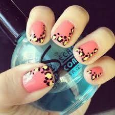 Resultado de imagen para nail art color coral