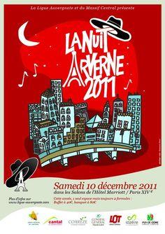 Affiche 2011 de la Nuit Arverne