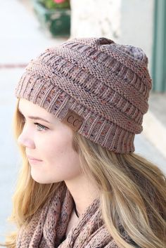 Original CC with speckled print accent. Rust. CC Beanie exclusive.