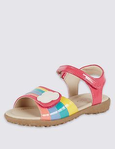 Buy the Kids' Rainbow Riptape Sandals from Marks and Spencer's range. Kid Shoes, Girls Shoes, Rainbow Shoes, Girl M, Summer Kids, Espadrilles, Sandals, Kids Rainbow, Kids Footwear