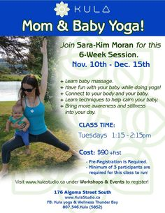 Kula Yoga, Mom And Baby Yoga, Information Board, Baby Massage, New Class, How To Do Yoga, Cool Baby Stuff, Have Fun, Bring It On