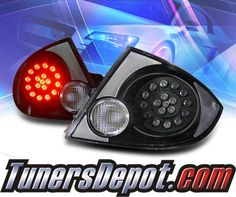 Ks Led Tail Lights Black 05 10 Chevy Cobalt 4dr 03 Cob05tled4djm