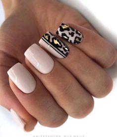 Leopard Nail Designs, Acrylic Nail Designs, Animal Nail Designs, Pink Nails, Gel Nails, Color Nails, Nail Nail, Leopard Print Nails, Pink Leopard