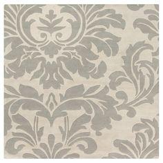 Vlore Area Rug - Medium Gray, Cream - (9'9 Square) - Surya