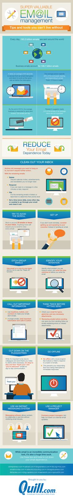 Super Valuable Email Management #Infographic #EmailManagement