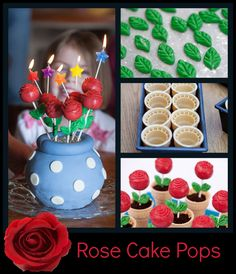 roses are red - rose cake pops