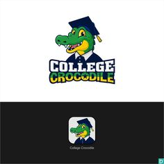 College Crocodile looking for fun and youthful logo. by AtoGraphz