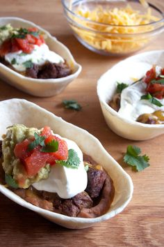 Mini Steak Burrito Bowls are a lot like a full sized burrito just a ...