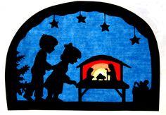 Winter - Fensterbild Weihnachten Transparentbild - ein Designerstück von Juliane-Buness bei DaWanda