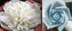 peonía rosa blanca tutorial tutorial flor de azúcar de TortenTante izquierda y rosa azul tutorial de The Neurotic Panadero