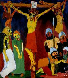 Crucifixion, 1912, oil on canvas, 220,5x193,5cm