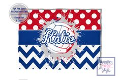 Volleyball Blanket Red White and Blue Spirit Blanket - Personalized Custom Volleyball Blanket - Custom Volleyball Blanket by PAMPERYOURSTYLE on Etsy