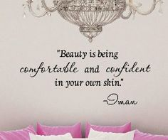 Beauty is being comfortable and confident in your own skin. -Imar Vinyl wall art Inspirational quotes and saying home decor decal sticker steamss