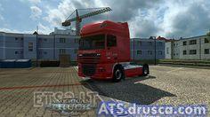 DAF XF XPO Logistics Skin American Truck Simulator, Trucks, Truck