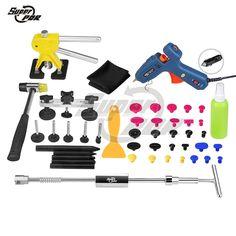 98.10$  Buy here - http://alidsv.worldwells.pw/go.php?t=32633649799 - PDR Kit Professional Super PDR Tools High Quality Dent Puller Slide Hammer Glue Gun Pulling Bridge