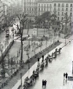 Madrid antiguo: Plaza Tirso de Molina (años 30)/ Old Madrid: Tirso de Molina Square (30`s)