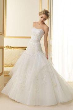 Elegantní & moderní Jaro Výšivka Svatební šaty 2014