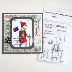 AnMa - Blog - Stamps from MagicMonday, card created by Silje.  Stempel / Stamps: http://www.anma.no