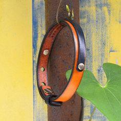Genuine leather bracelet. Men's. Unisex. Wristband.