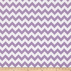"Riley Blake 108"" Wide Medium Chevron Lavender from @fabricdotcom  From Riley Blake, These 108"" wide cotton fabrics are perfect for backing quilts, making lightweight curtains, dusty ruffles, duvet covers, and more! Colors include lavender and white."