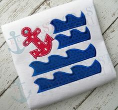 Anchor Flag Applique - 3 Sizes!   What's New   Machine Embroidery Designs   SWAKembroidery.com East Coast Applique