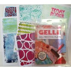 Gelli printing class September 14th 10:30am-12:30pm. Donna Downey Studios