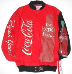 SIZE L Nascar COCA COLA COKE FUN BOTTLE EMBROIDERED Cotton Jacket NEW L Coca Cola Poster, Coca Cola Ad, Always Coca Cola, Pepsi, Coke, Coca Cola Life, World Of Coca Cola, Coca Cola Merchandise, Coca Cola Brands