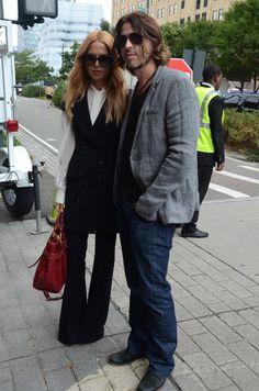 Rachel Zoe and husband Rodger Berman. #rachelzoe #streetstyle #fashionweek #nyfw