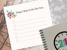 Things I Want To Do This Year Notebook 2017 Journal by LooveMyArt