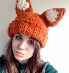 Fox Ears Hat Knitting Pattern