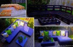 How To Make DIY Outdoor Pallet Lounge