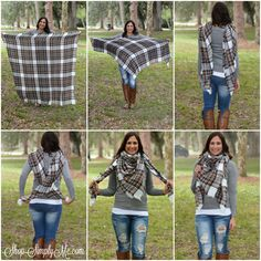 "Oversized Blanket Scarf ""How To"" - Simply Me Boutique Naples, FL. www.SHOPSIMPLYME.com"