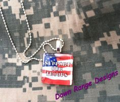Support our Troops glass tile necklace     $10 includes shipping