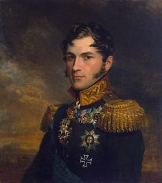 Leopold Saksen-Koburg (1790 - 1865), general of russian service, later - Leopold I of Belgium by Geo Dawe 1823-1825 S-Peterburg, Winter Palace War Gallery