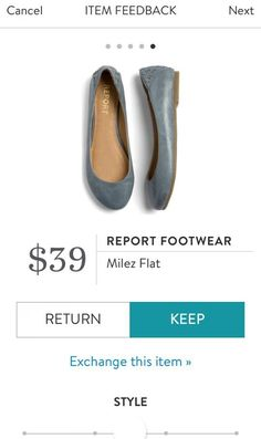 REPORT FOOTWEAR Milez Flat from Stitch Fix. https://www.stitchfix.com/referral/4292370