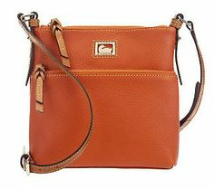 Dooney & Bourke Dillen Leather Letter Carrier with Front Zipper Pocket