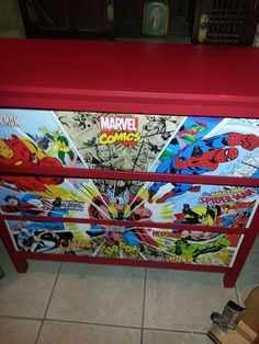 Reconditioned/Certified - Awesome dresser. Marvel comics. Featuring Spiderman,  wolverine, iron man, Thor and more