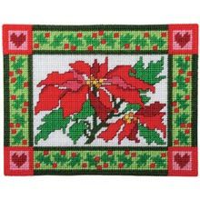 Poinsettia Place Mats Plastic Canvas Kit - Herrschners