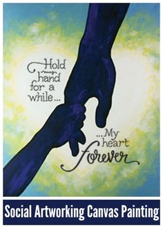 Social Artworking: Hold My Hand | Time seems to speed up when you are a parent. All too soon, the pitter-patter of little feet disappears out the front door to go to college. Capture that magical moment when his little hand still fits easily into yours with this design. #socialartworking