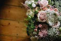 Pink Flowers | DIY At Home Wedding | Claire Fleck Photography | http://www.rockmywedding.co.uk/laura-sam/