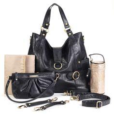 Timi And Leslie Hannah Tote Diaper Bag - Black   Designer Diaper Bags www.duematernity.com