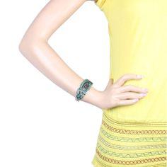 #ONLINE_SHOPPING @ Khoobsurati.com Get this Floral Designed Metallic Adjustable #BANGLE http://khoobsurati.com/pdt/zovon/zovon-small-floral-designed-metallic-adjustable-bangle